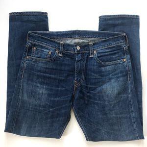 Levi's Men's Med. Wash Selvedge 511 Slim Fit Jeans